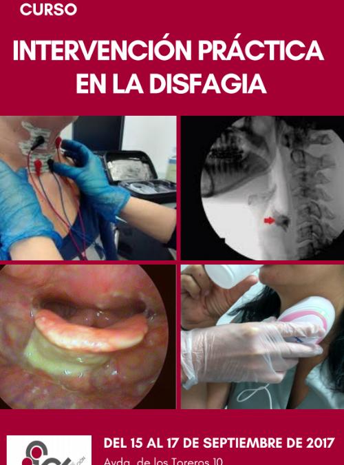 CURSO INTERVENCIÓN PRÁCTICA DE LA DISFAGIA