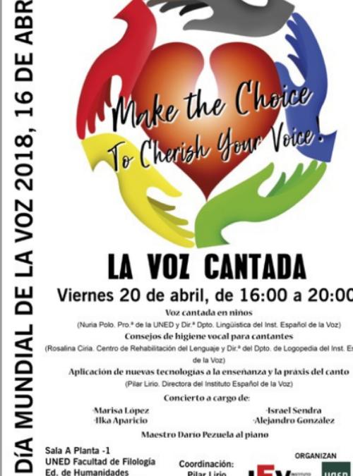 """Monográfico """"La Voz Cantada"""" para profesionales con motivo del Día Mundial de la Voz"""