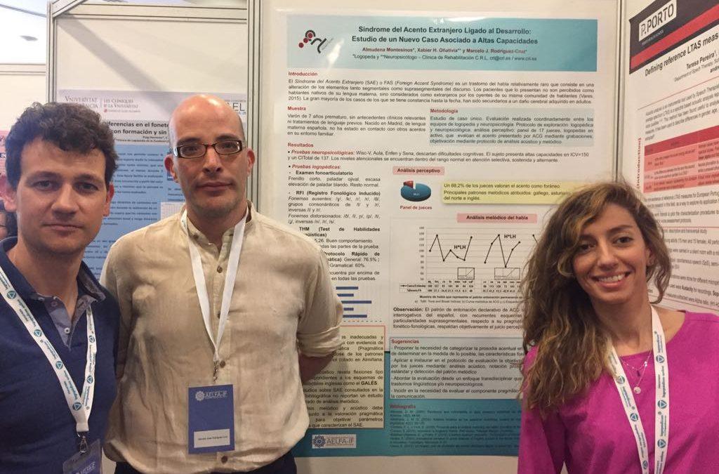 CRL presenta dos estudios en el XXI Congreso Internacional de la Asociación de Logopedia y Foniatría AELFA-IF de Granada